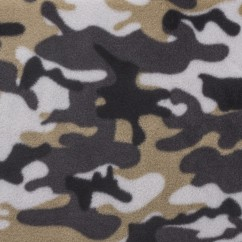 CRYSTAL Anti-pill Fleece Print - Camouflage - grey