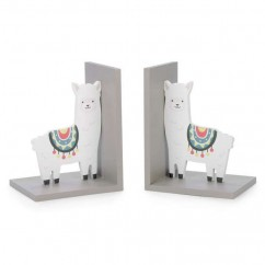 Set of 2 Llama Book Ends - Pink - 5 x 4 x 6,5''