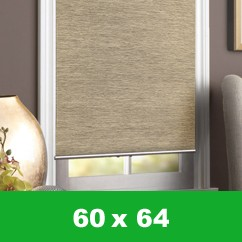 Bamboo cordless blind - Beige - 60 x 64 inch