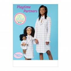 K0252 Misses'/Girls' and 18' Doll Dress (size: All Sizes in One Envelope)