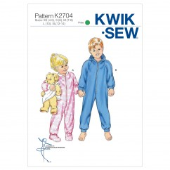 K2704 Sleeper & Jumpsuit (size: XS(4-5) - S(6) - M(7-8) - L(10) - XL(12-14))
