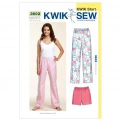 K3602 Sleep Pants and Shorts (size: XS-S-M-L-XL)