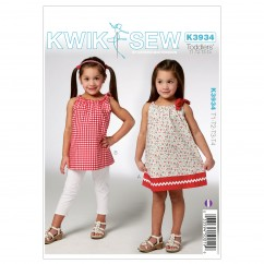 K3934 Toddlers' Dress & Tunic (size: T1-T2-T3-T4)