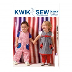 K3983 Toddlers' Dress, Overalls and Pants (size: All Sizes In One Envelope)