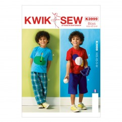 K3999 Boys' Top, Shorts and Pants (size: All Sizes In One Envelope)