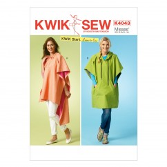 K4043 Misses' Ponchos (size: All Sizes In One Envelope)