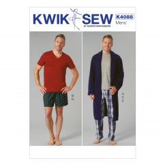 K4088 Men's Robe, Belt, Tops, Shorts and Pants (size: All Sizes In One Envelope)