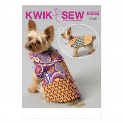 K4092 Pet Coats (size: All Sizes In One Envelope)
