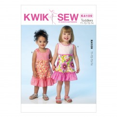 K4109 Toddlers' Dress (size: T1 - T4)