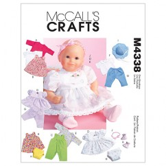 M4338 Baby Doll Clothes (size: All Sizes In One Envelope)
