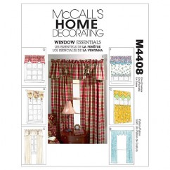 M4408 Window Essentials (Valances and Panels) (size: All Sizes In One Envelope)