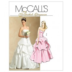 M5321 Misses' Lined Top and Skirts (size: 6-8-10-12)