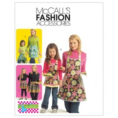 M5720 Misses'/Chldren's/Girls' Aprons (size: All Sizes In One Envelope)