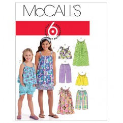M5797 Children's/Girls' Tops, Dresses, Shorts and Pants (size: 7-8-10-12-14)