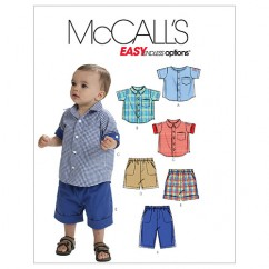 M6016 Infants' Shirts, Shorts And Pants (size: All Sizes In One Envelope)