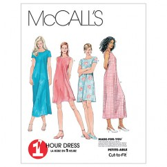 M6102 Misses' Dress In 2 Lengths (size: 18-20-22)