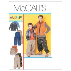 M6222 Children's/Boys' Shirt, Vest and Pull-On Pants (size: MED-LRG-XLG)