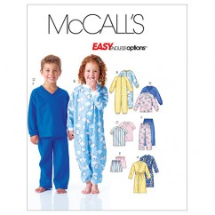 M6224 Toddlers'/Children's Robe, Belt, Jumpsuit, Top, Shorts and Pants (size: 4-5-6)