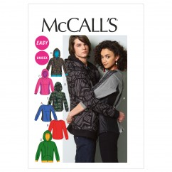 M6614 Misses'/Men's Tops and Jacket (size: XLG-XXL-XXXL)