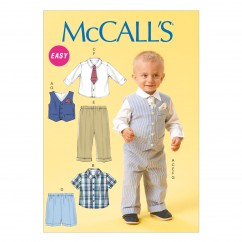 M6873 Infants' Vest, Shirt, Shorts, Pants, Tie and Pocket Square (size: All Sizes In One Envelope)