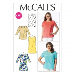 M6927 Misses'/Women's Tops and Tunics (size: 8-10-12-14-16)