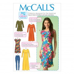 M7122 Misses' Tunic, Dresses and Leggings (size: XSM-SML-MED)