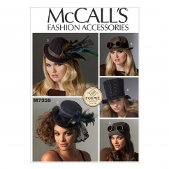 M7335 Hats in Five Styles (Size: All Sizes in One Envelope)