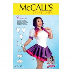 M7455 Misses' Skirted Leotards with Mix-and-Match Design Variations (size: 14-16-18-20-22)