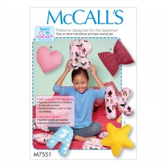 M7551 Star, Heart, Bow, and Alphabet Pillows (size: One Size Only)