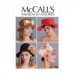 M7766 Misses' Hats (size: All Sizes in One Envelope)