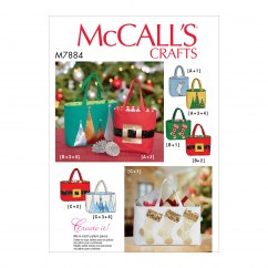 M7884 Holiday Gift Bags (size: All Sizes in One Envelope)