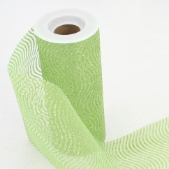 "Waves Glitter Tulle Spool 6"" - Lime"