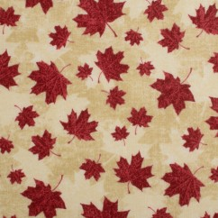 Northcott - STONE HENGE OH CANADA - Maple leaf - Beige / Red