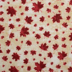Northcott - STONE HENGE OH CANADA - Maple leaf - Ivory / Red