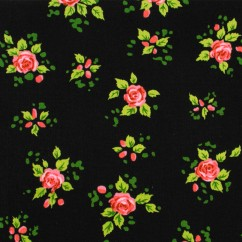 CHARMING by GERTIE Cotton Print - Charming - Black