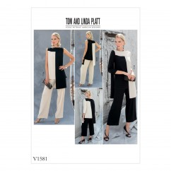 V1581 Misses' Tunic and Pants (size: 14-16-18-20-22)