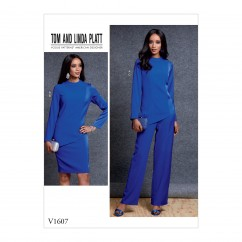 V1607 Misses' Top, Skirt and Pants (size: 14-16-18-20-22)