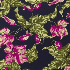 CECEE Rayon Voile Coordinate - Florals - Navy