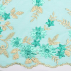 AMORE Embroidered Mesh - Mint