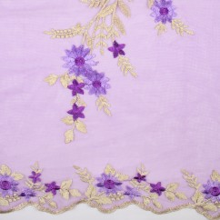 AMORE Embroidered Mesh - Purple