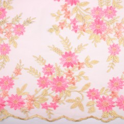 AMORE Embroidered Mesh - Pink