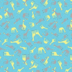 Windham Fabrics - STAND TALL Printed Cotton - Giraffe small - Blue