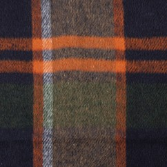 Kashmir Plaid Jacketing - Plaid - Orange / Green