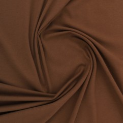 ORGANIC Cotton Lycra Solid Knit - Brown