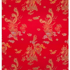 Chinese Brocade - Dragon - red