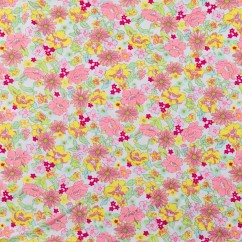 Bathing Suit Print - Daisy - White / Pink