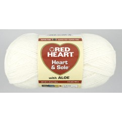 Red Heart Heart & Sole  50g Ivory