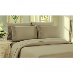Bamboo Living - Comfort and Soft Flat Sheet - Taupe