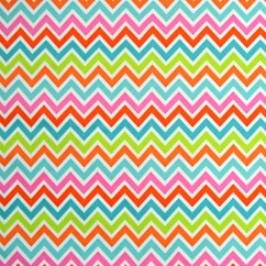 Babyville Boutique Waterproof PUL Fabric Chevron 165cm (64 inches)