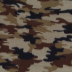 Fleece Skin Prints - Camouflage - Stone / Black / Brown